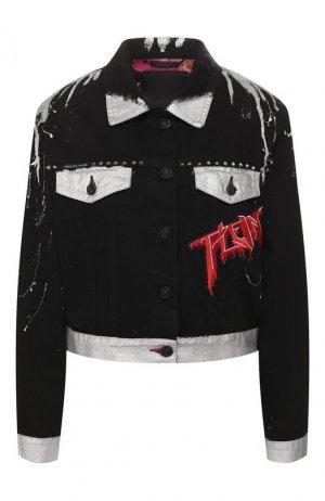 Джинсовая куртка Philipp Plein. Цвет: чёрный
