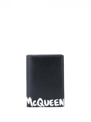 Картхолдер с логотипом Alexander McQueen. Цвет: черный