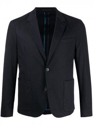 Пиджак узкого кроя PS Paul Smith. Цвет: синий
