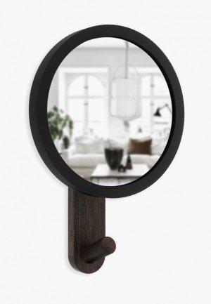 Зеркало настенное Umbra Hub. Цвет: черный