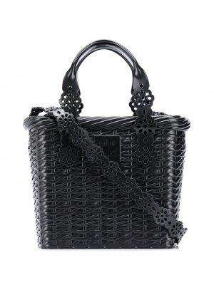 Плетеная сумка-тоут Viktor & Rolf. Цвет: черный