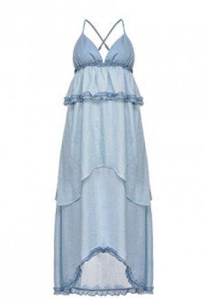 Сарафан PINKO. Цвет: голубой