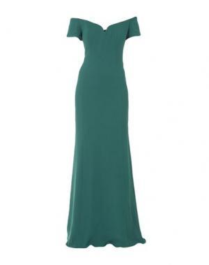 Длинное платье BADGLEY MISCHKA. Цвет: зеленый