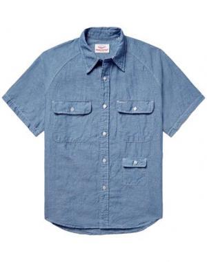 Джинсовая рубашка BATTENWEAR. Цвет: синий