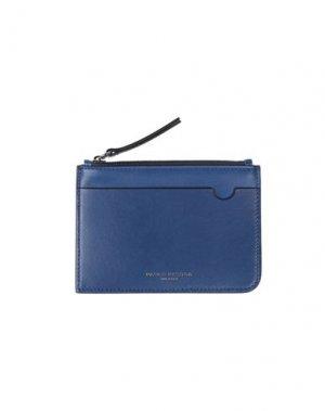 Бумажник PAOLO PECORA. Цвет: синий