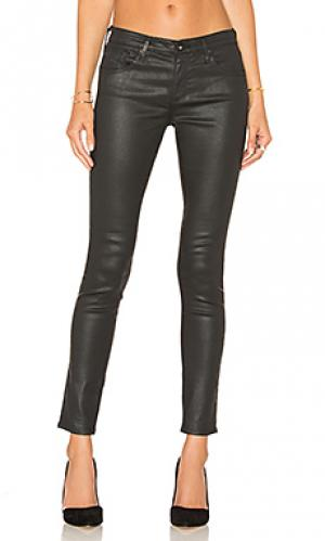 Укороченные джинсы AG Adriano Goldschmied. Цвет: черный