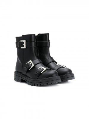 Ботинки с пряжками Mi Sol. Цвет: черный