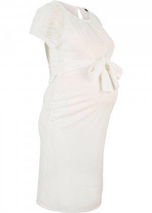 Платье для беременных bonprix. Цвет: белый