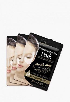 Набор масок для кожи вокруг глаз Skinlite Омолаживающая маска области под глазами «ANTY-AGE complex», 3 шт.. Цвет: прозрачный