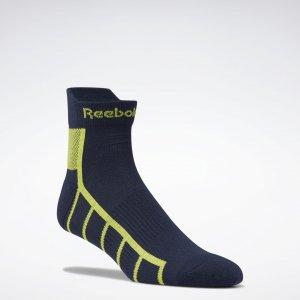 Носки One Series Running Ankle Reebok. Цвет: vector navy / acid yellow