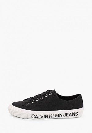 Кеды Calvin Klein Jeans. Цвет: черный