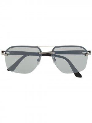 Солнцезащитные очки в квадратной оправе Cartier Eyewear. Цвет: черный