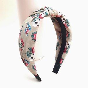 Ободок для волос с цветочным принтом SHEIN. Цвет: хаки