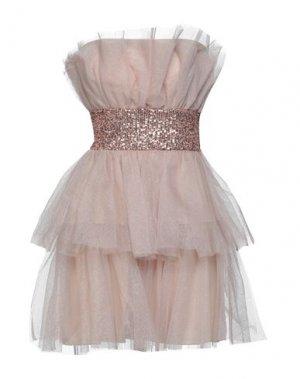 Короткое платье ANIYE BY. Цвет: пудровый