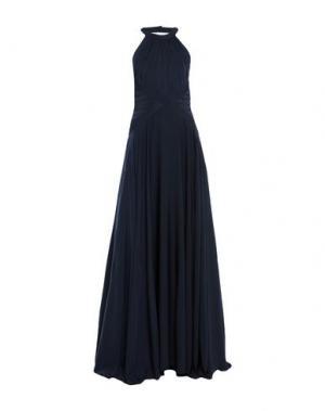 Длинное платье MANGANO. Цвет: темно-синий
