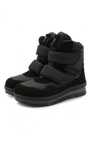 Утепленные ботинки Jog Dog. Цвет: чёрный