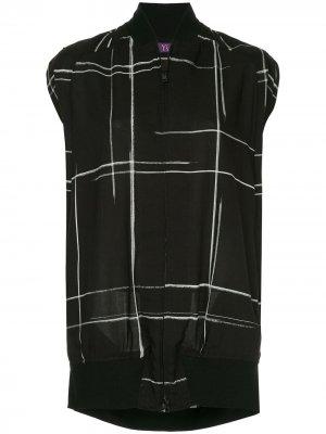 Ys куртка-бомбер без рукавов Y's. Цвет: черный