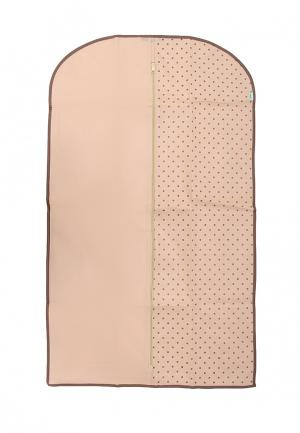Чехол для одежды Homsu Dots. Цвет: бежевый