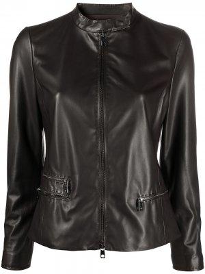 Приталенная куртка Emporio Armani. Цвет: коричневый