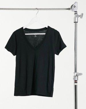 Черная футболка с v-образным вырезом -Черный J Crew