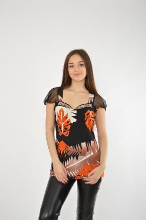 Блузка FUEGO WOMAN. Цвет: разноцветный