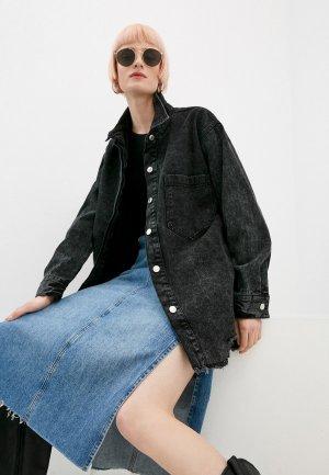 Куртка джинсовая Sela. Цвет: серый