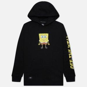 Мужская толстовка x SpongeBob SquarePants Happy Face Vans. Цвет: чёрный
