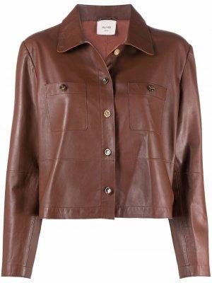 Куртка на пуговицах Alysi. Цвет: коричневый