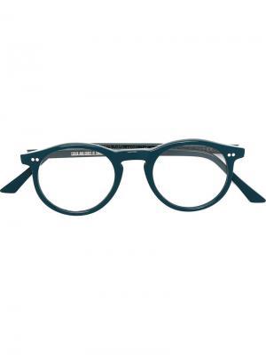 Оптические очки в круглой оправе Cutler & Gross. Цвет: синий