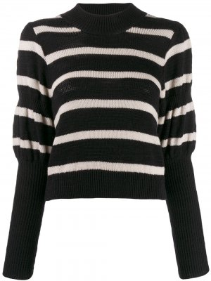 Вязаный свитер с объемными рукавами Derek Lam 10 Crosby. Цвет: черный