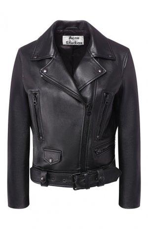 Кожаная куртка Acne Studios. Цвет: черный