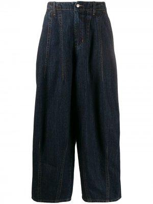 Зауженные джинсы широкого кроя Société Anonyme. Цвет: синий