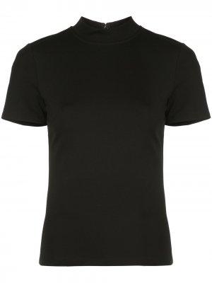 Облегающая футболка Alexis. Цвет: черный