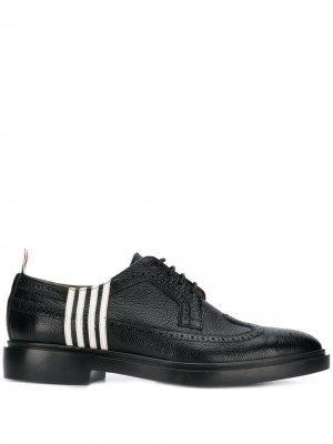 Туфли броги с полосками 4-bar Thom Browne. Цвет: черный