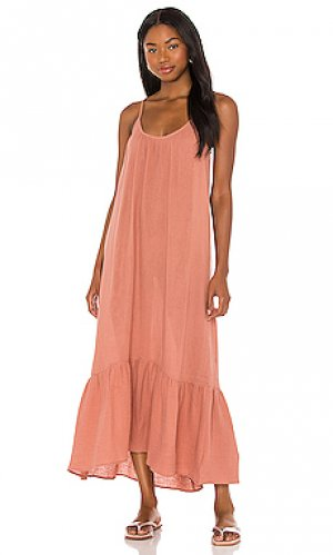 Платье миди double Seafolly. Цвет: сиреневый