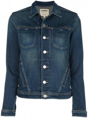 LAgence джинсовая куртка Celine кроя слим L'Agence. Цвет: синий