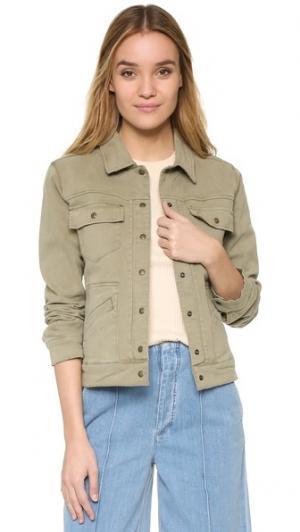 Джинсовая куртка ANINE BING. Цвет: милитари