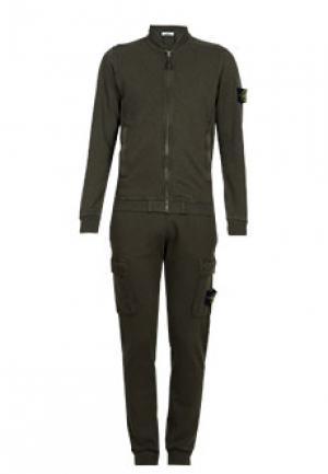 Спортивный костюм STONE ISLAND. Цвет: зеленый