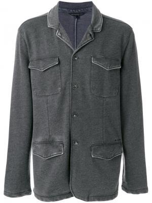 Блейзер с накладными карманами John Varvatos. Цвет: серый