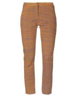 Повседневные брюки ANDREA TURCHI. Цвет: охра