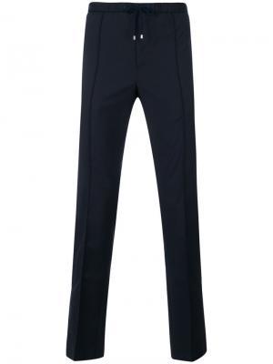 Классические спортивные брюки Valentino. Цвет: синий