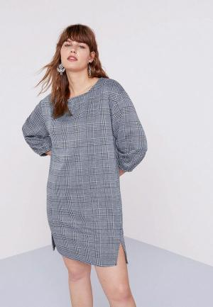 Платье Violeta by Mango - TRASH. Цвет: серый