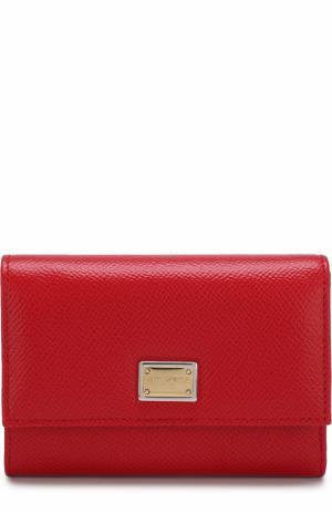 Кожаный кошелек Dolce & Gabbana. Цвет: красный