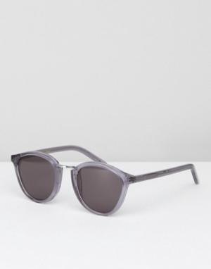 Серые круглые солнцезащитные очки Monokel Eyewear. Цвет: серый