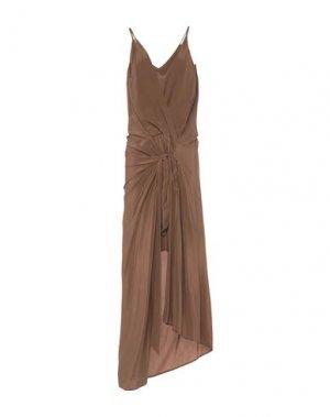 Длинное платье ALYSI. Цвет: песочный