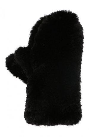 Варежки из меха норки Kussenkovv. Цвет: черный