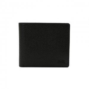 Кожаное портмоне BOSS. Цвет: чёрный
