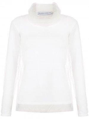Блузка с высоким воротником Gloria Coelho. Цвет: белый