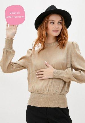 Блуза b.young. Цвет: бежевый