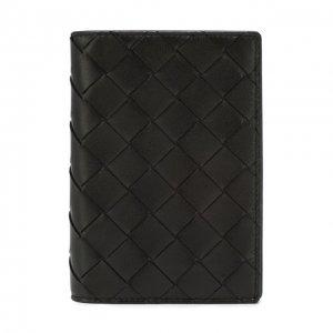 Кожаная обложка для паспорта Bottega Veneta. Цвет: чёрный